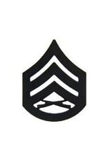 "MidMil Marine Corps Staff Sergeant (E-6) Subdued Rank Pin 1-1/8"""