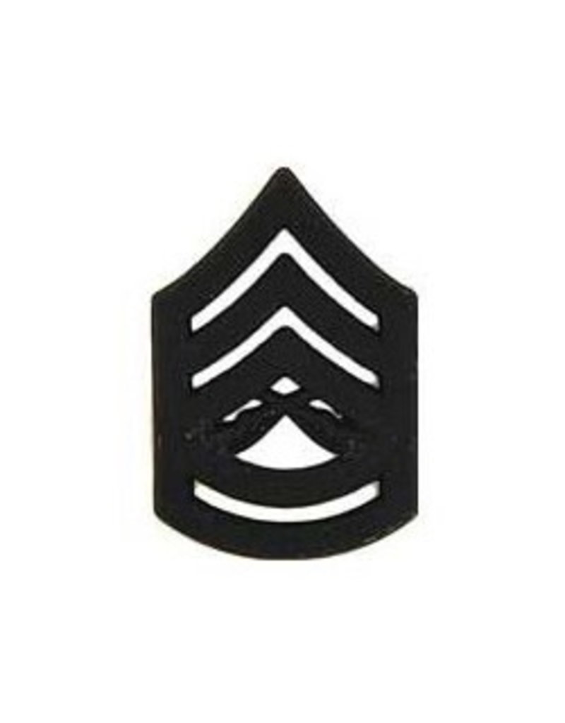 MidMil Marine Corps Gunnery Sergeant (E-7) Subdued Rank Pin 1-1/8""