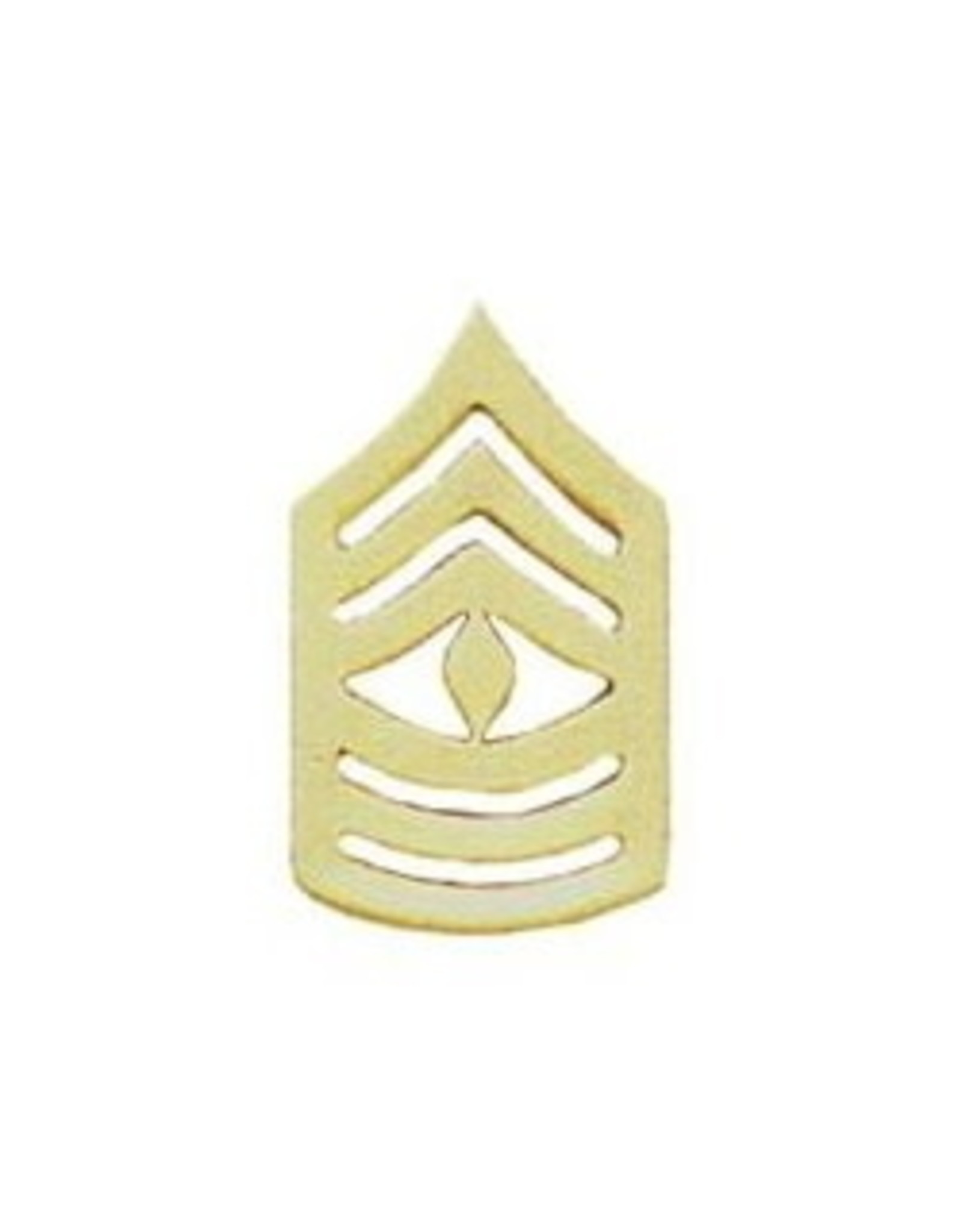 MidMil Marine Corps First Sergeant (E-8) Gold Rank Pin 1-3/8""