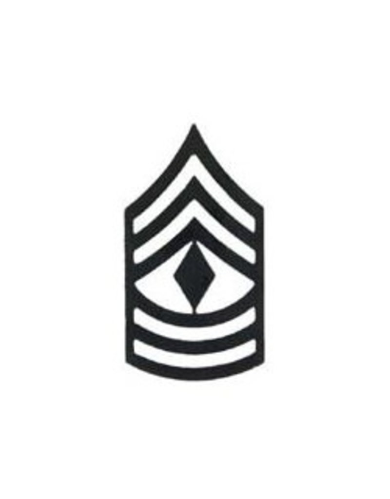 """MidMil Marine Corps First Sergeant (E-8) Subdued Rank Pin 1-3/8"""""""