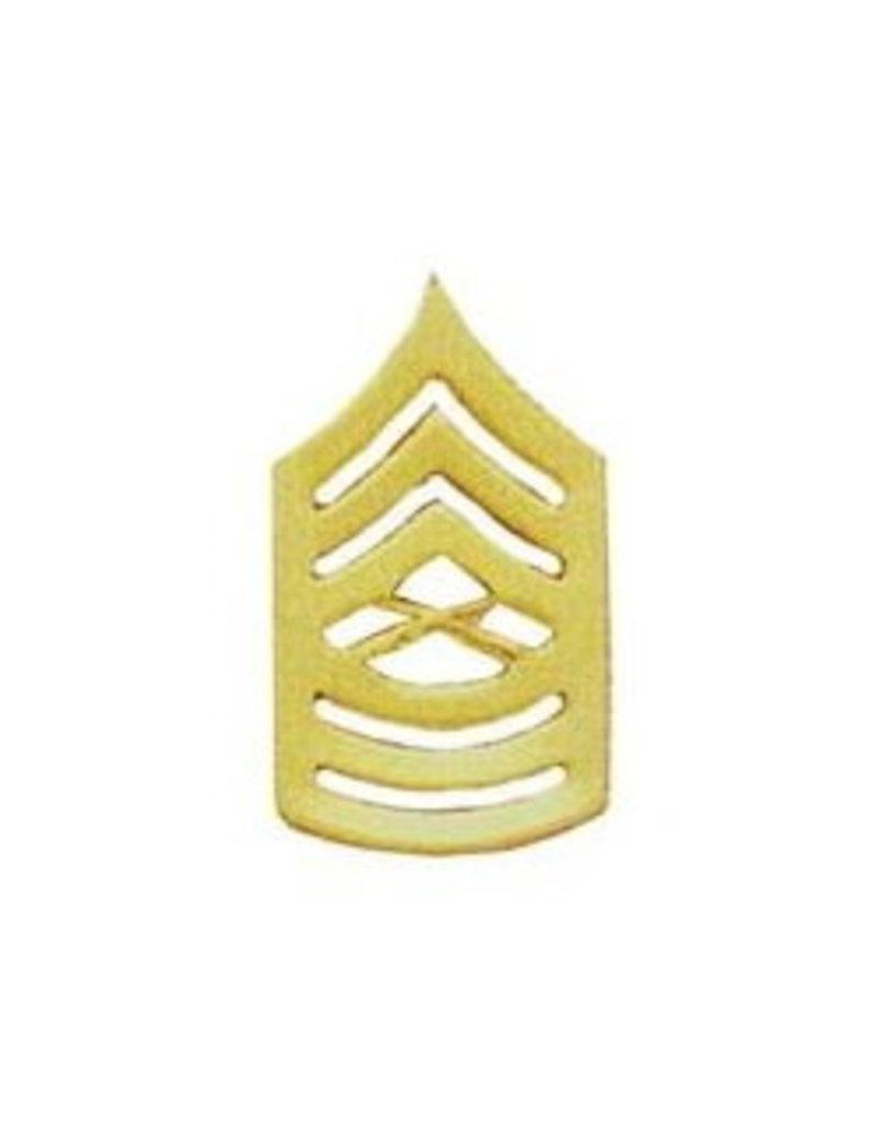 "MidMil Marine Corps Master Sergeant (E-8) Gold Rank Pin 1-1/2"""