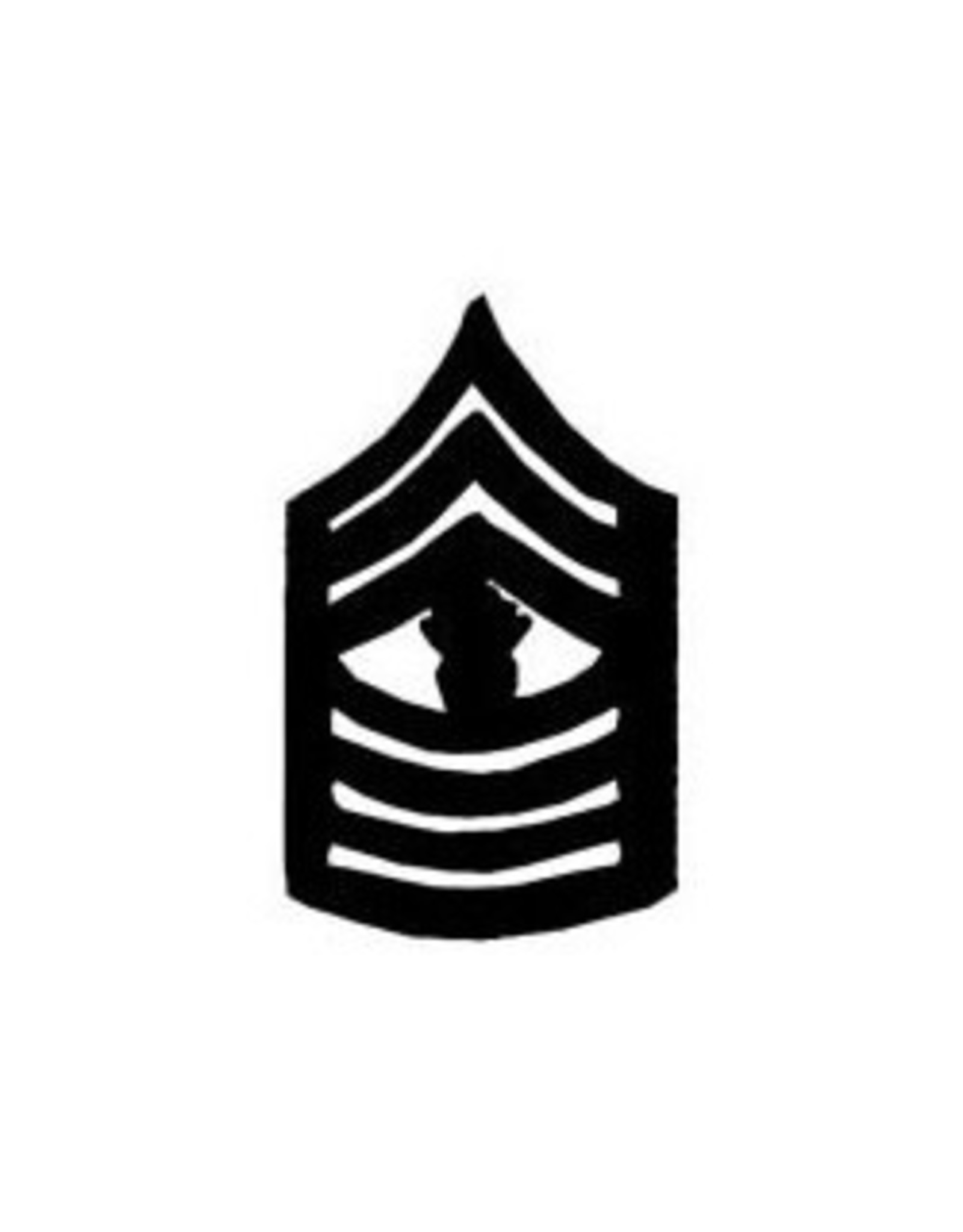 """MidMil Marine Corps Master Gunnery Sergeant (E-9) Subdued Rank Pin 1-1/2"""""""