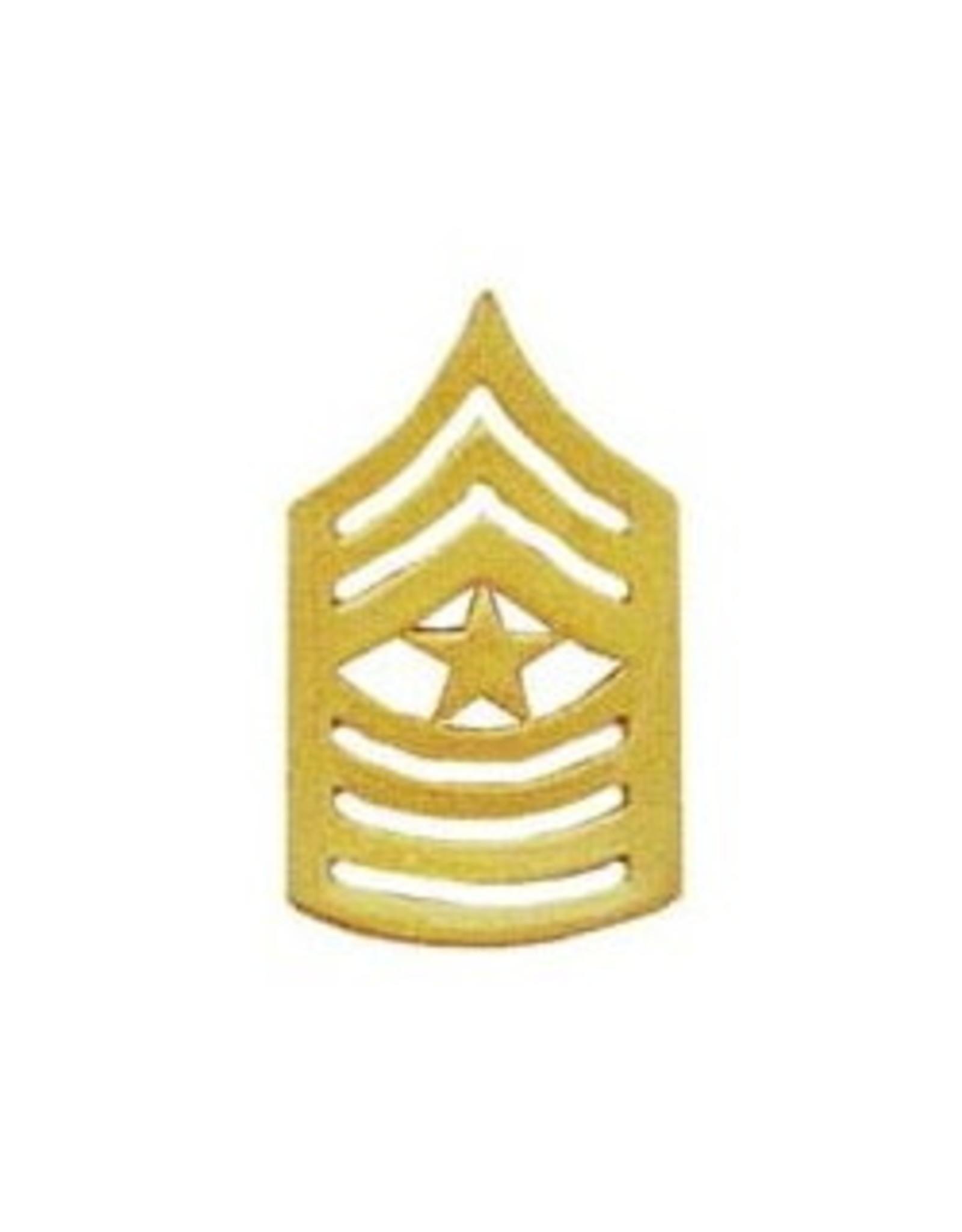 "MidMil Marine Corps Sergeant Major (E-9) Gold Rank Pin 1-1/2"""