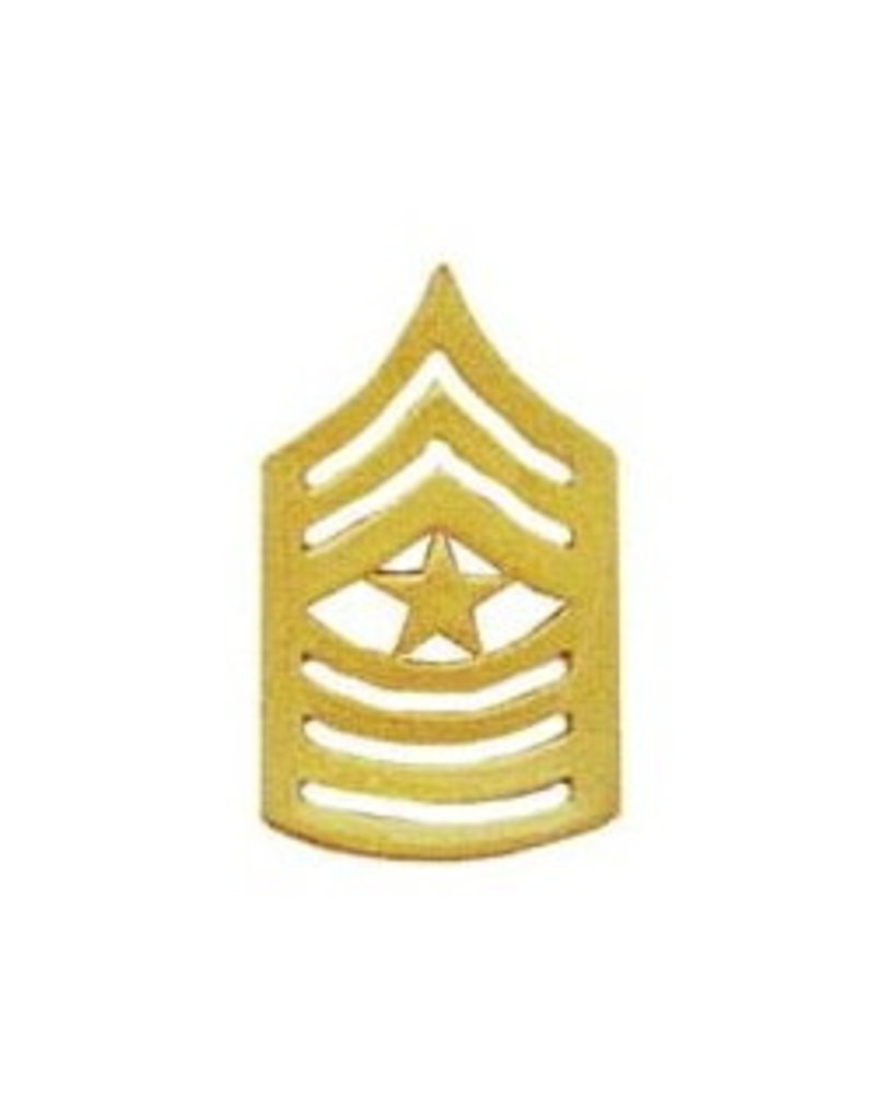 MidMil Marine Corps Sergeant Major (E-9) Gold Rank Pin 1-1/2""