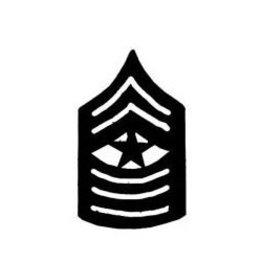 "MidMil Marine Corps Sergeant Major (E-9) Subdued Rank Pin 1-1/2"""