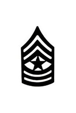 MidMil Army Sergeant Major (E-9) Subdued Rank Pin 1-1/4""
