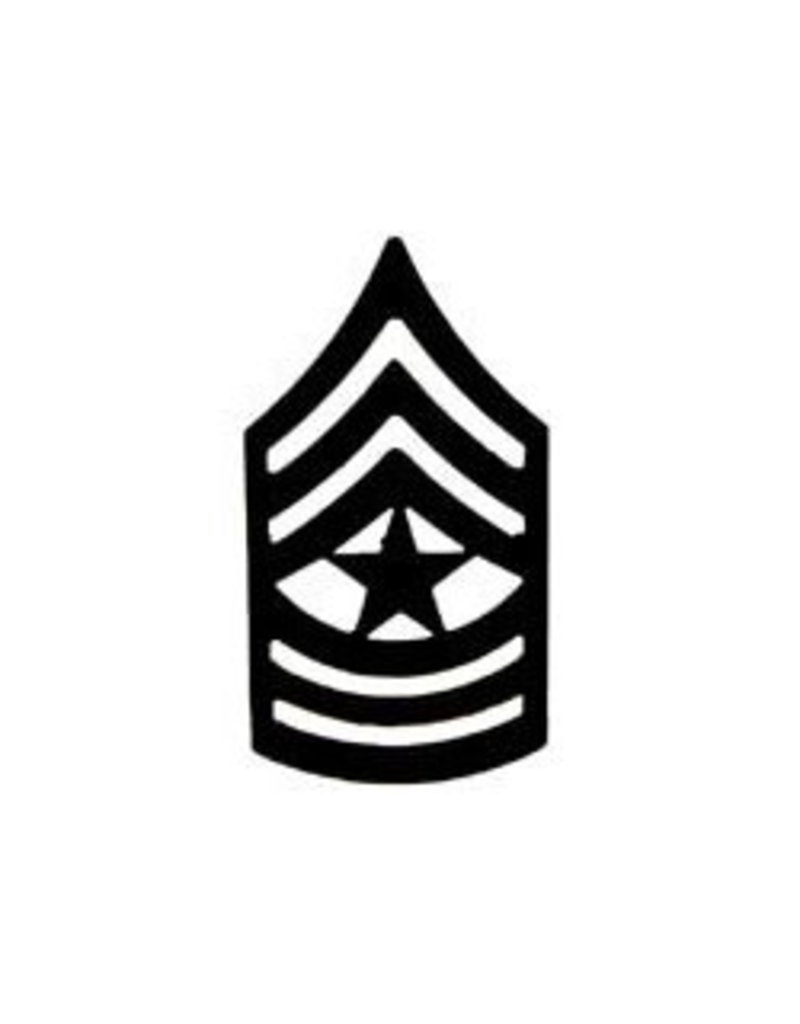 """MidMil Army Sergeant Major (E-9) Subdued Rank Pin 1-1/4"""""""