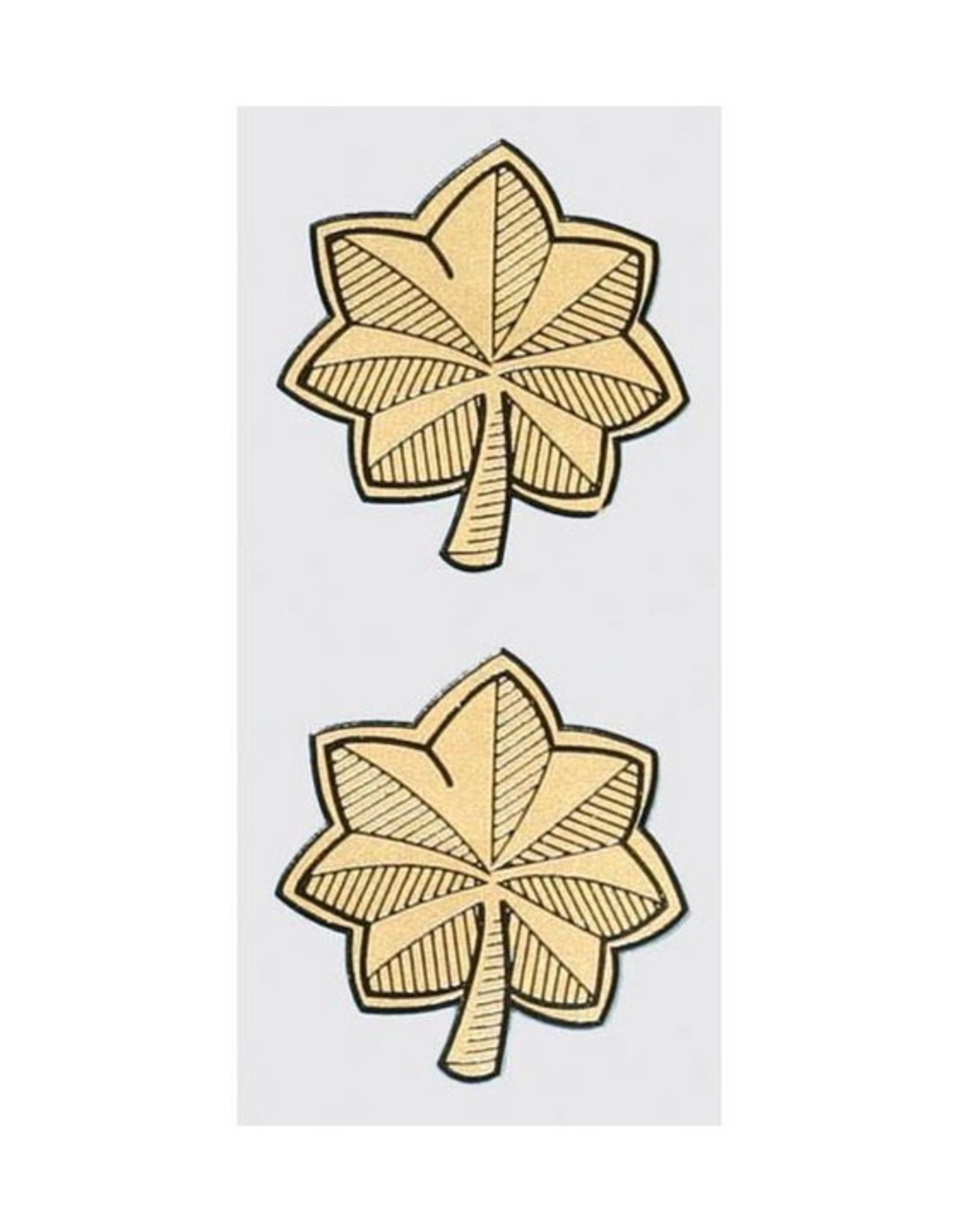 "MidMil Major Rank Insignia Decal 1.7"" wide x 1.9"" high 2 pieces"
