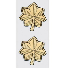 """MidMil Major Rank Insignia Decal 1.7"""" wide x 1.9"""" high 2 pieces"""