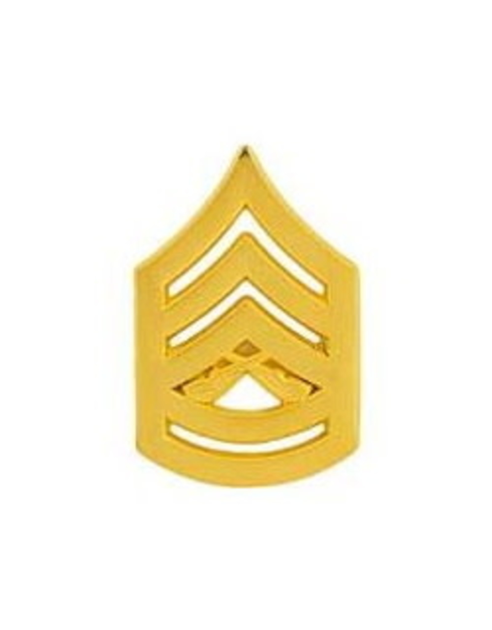 "MidMil Marine Corps Gunnery Sergeant (E-7) Gold Rank Pin 1-1/8"""