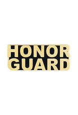 "MidMil Honor Guard Text Pin 1-1/4"" Gold"