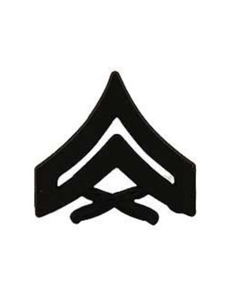 """MidMil Marine Corps Corporal (E-4) Subdued Rank Pin 1-1/8"""""""