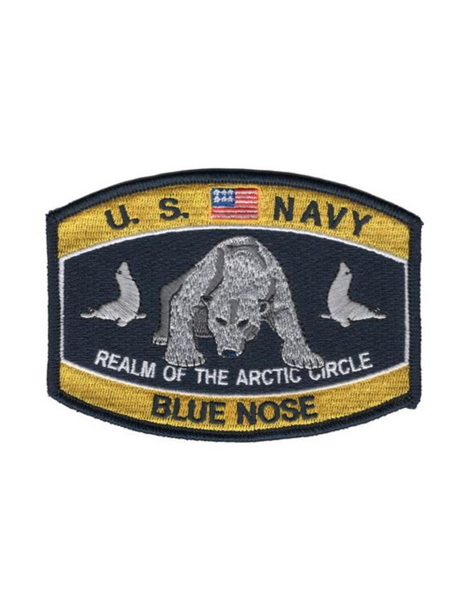 "MidMil Patch Navy Blue nose Polar Bear4.5""x3.25"""