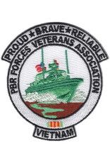 "MidMil Patch Vietnam Navy PBR Forces Vet 3""x3.5"""