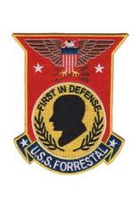 """MidMil Patch USS Forrestal CVA-59 3.5""""x4.25"""""""