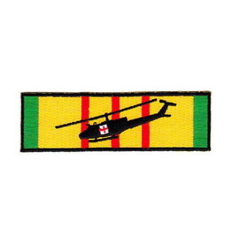 """MidMil Embroidered Dust-Off Chopper on Service Ribbon 4.5"""" wide x 1.4"""" high"""