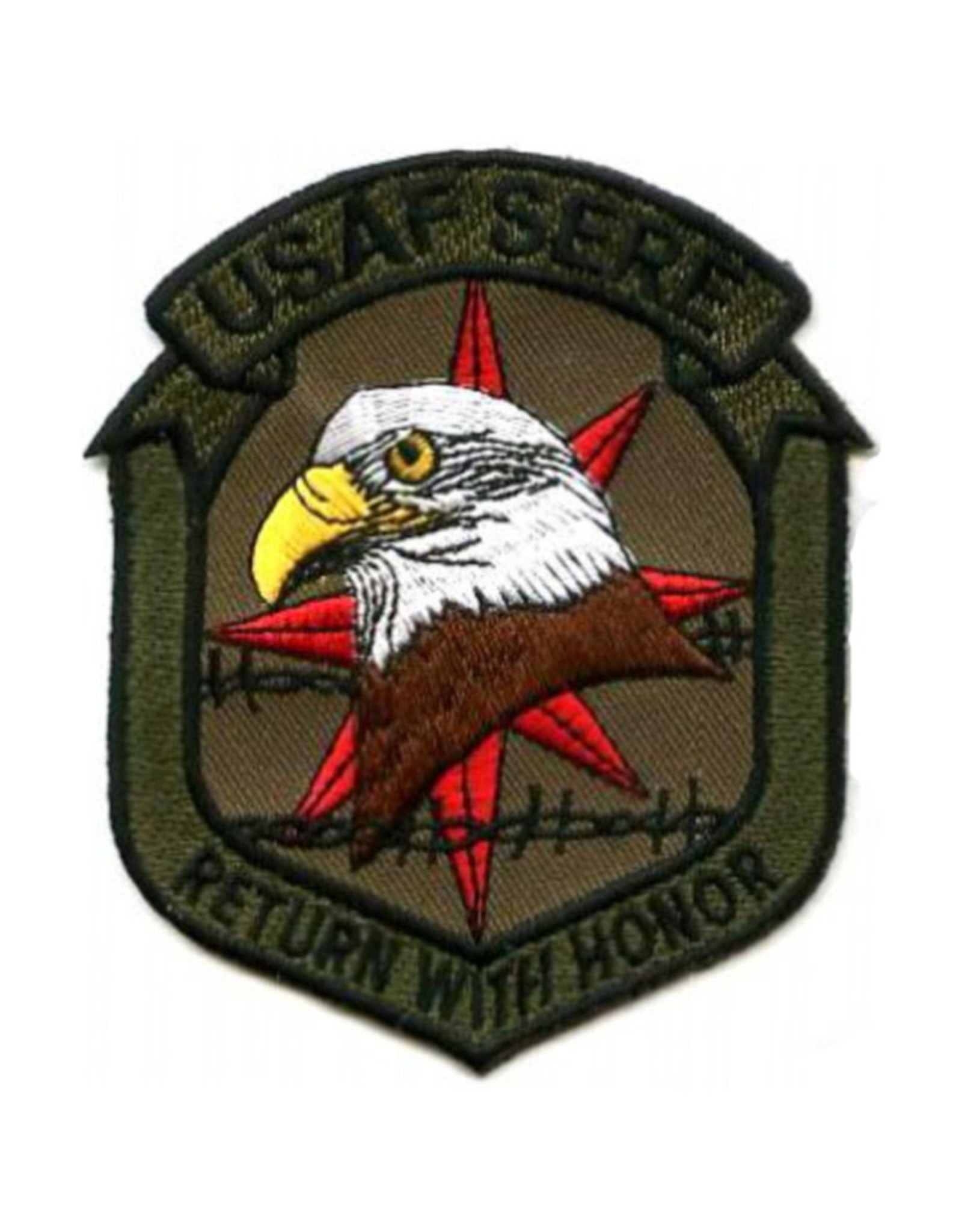 """MidMil Embroidered USAF SERE Patch with Motto Return With Honor 3.2"""" wide x 4"""" high"""