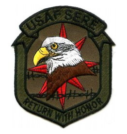 """MidMil Embroidered USAF SERE Patch with Motto 3.2"""" wide x 4"""" high"""