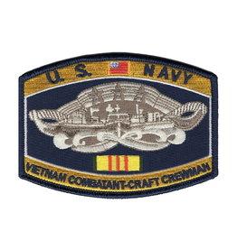 "MidMil Embroidered U.S. NavyVietnam Combatant-Craft Crewman Patch 4.5"" wide x 3.2"" high"