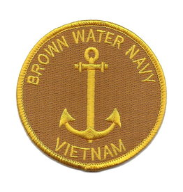 MidMil Embroidered Brown Water Navy Vietnam Patch 3""