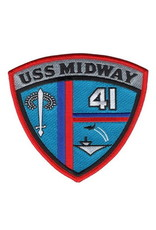 "MidMil Embroidered USS Midway CV-41 Crest Patch 4.5"" wide x 4.2"" high"