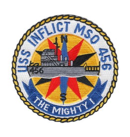 """MidMil Embroidered USS Inflict MSO-456 Patch 4.5"""""""