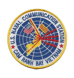 MidMil Embroidered Naval Communication Station Cam Ranh Bay, Vietnam Patch 4.5""