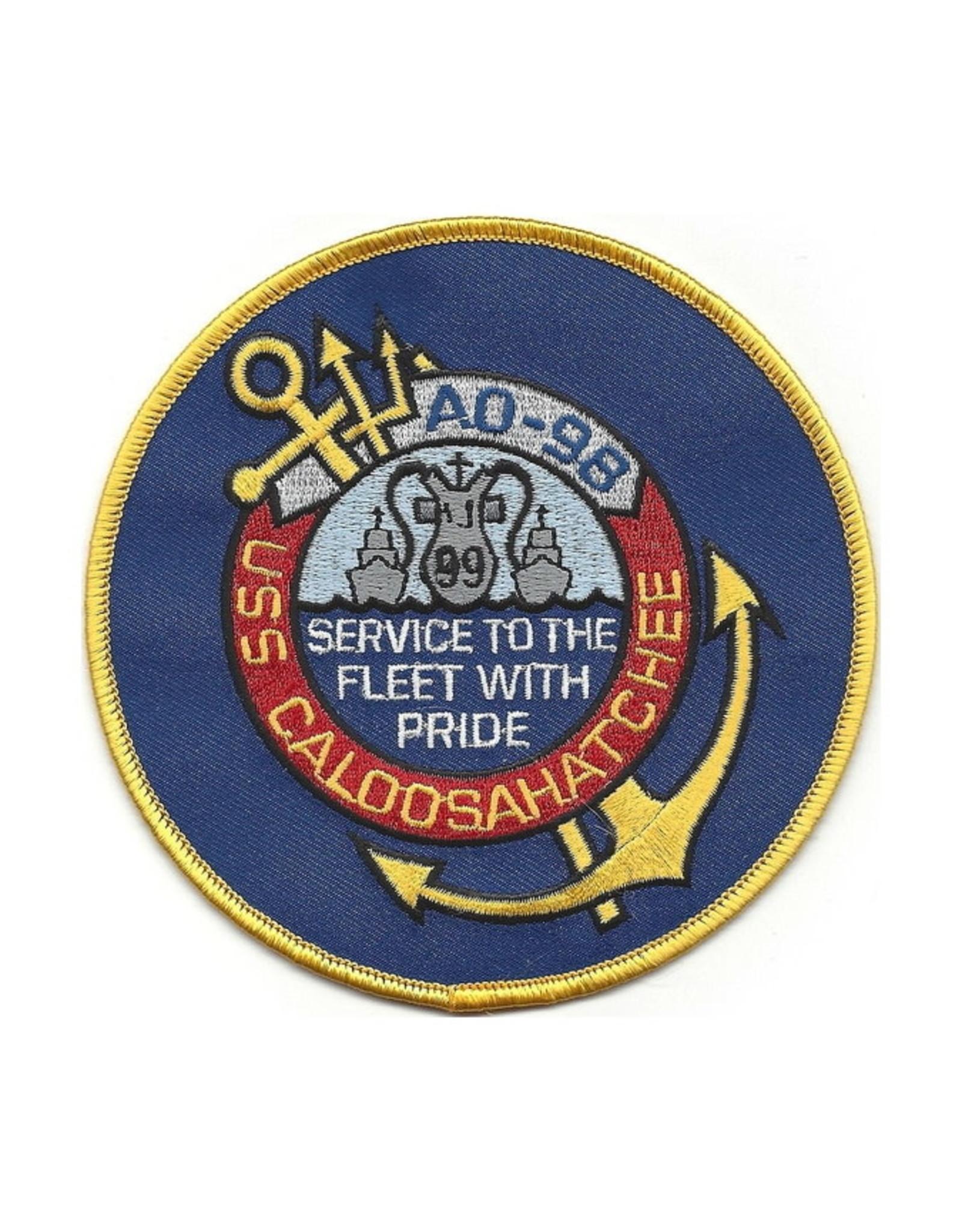 "MidMil Embroidered USS Caloosahatchee AO-98 Patch 4.5"""