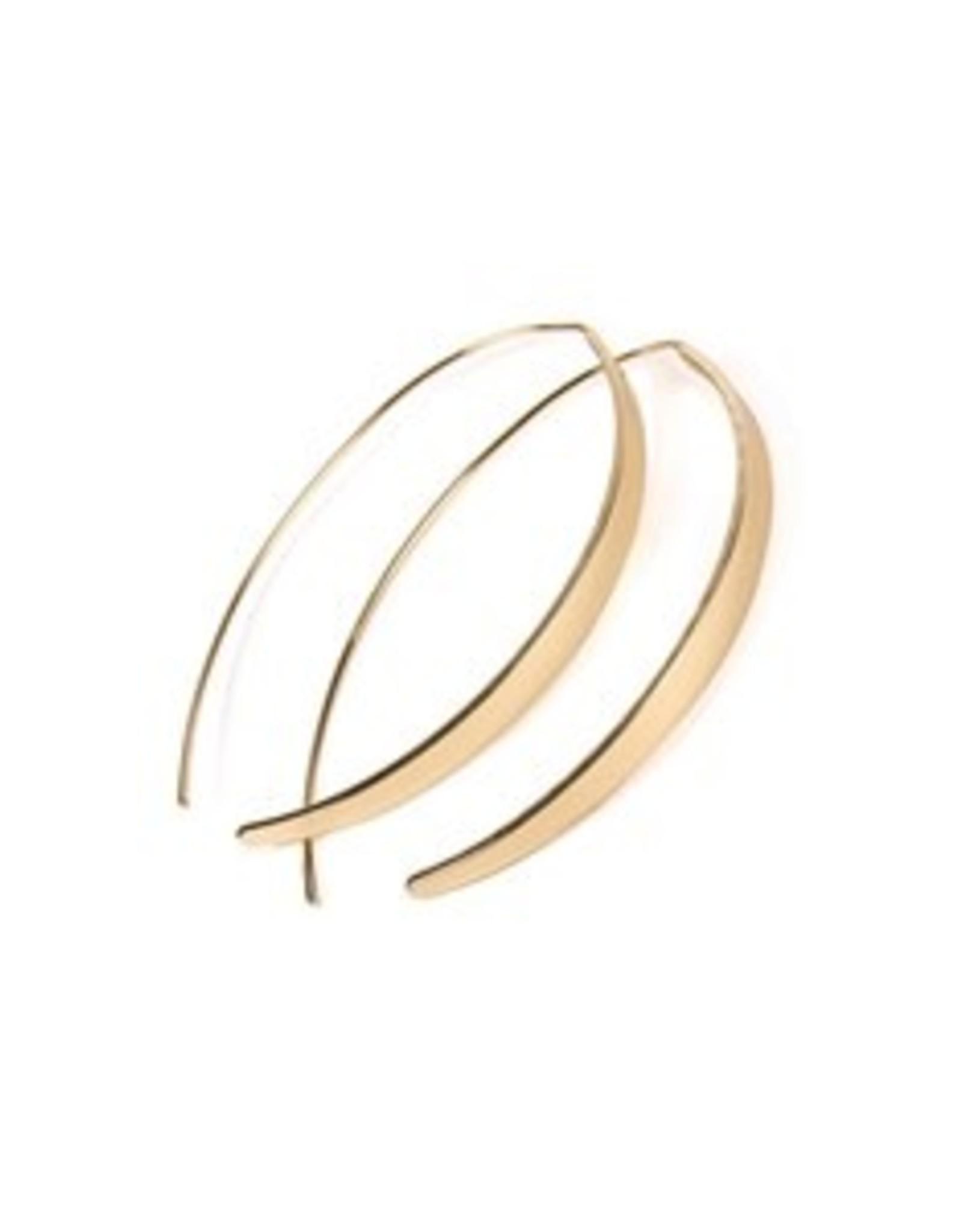 Gold Curve Open Hoop