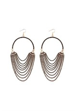 Black Layer Hook Dangle Earrings
