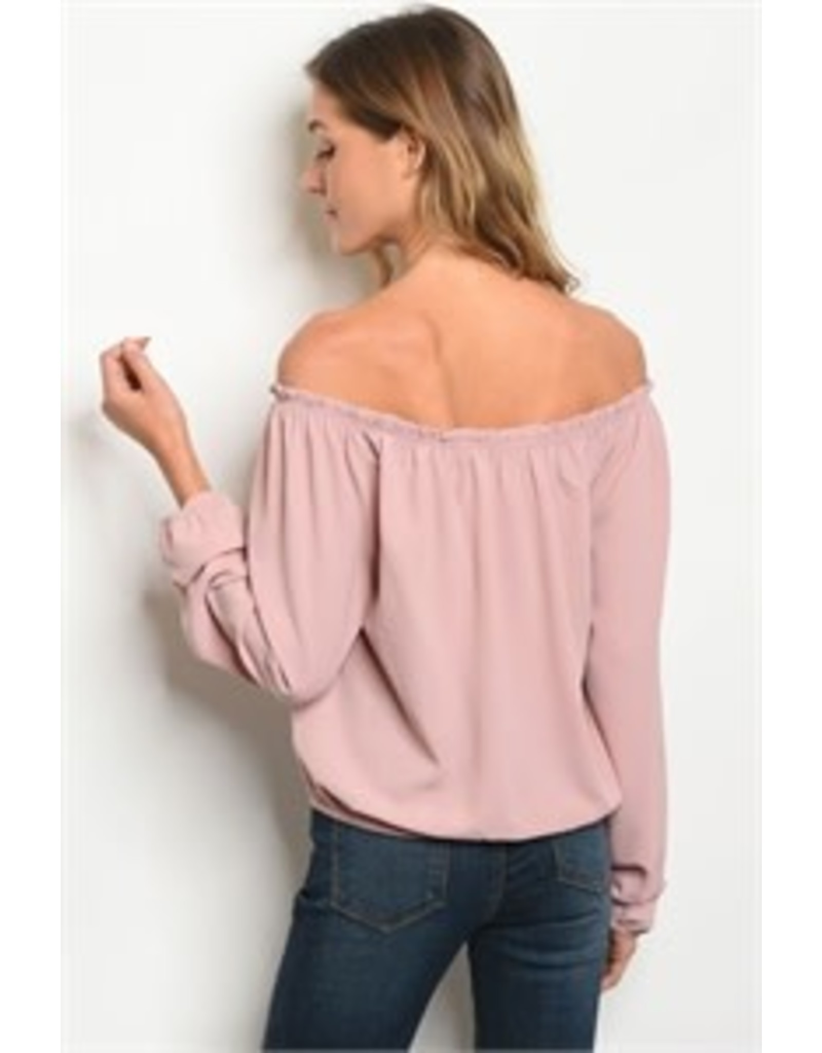 Off-the-Shoulder Tie Waist Tunic