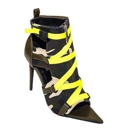 Camouflage Neon Dress Heel