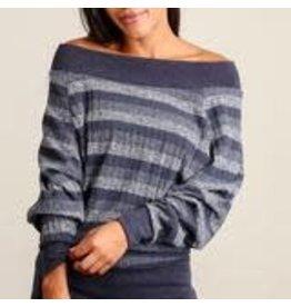 sun n moon Navy Stripe Sweater