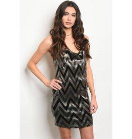 Backless Sequin Dress