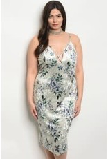 Floral Velvet Bodycon Dress