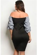 Puff Sleeve Sweetheart Neckline Bodycon Dress