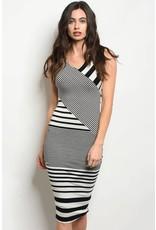 Striped Jersey Bodycon Dress
