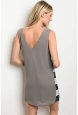 V-neck Multi Color Sequin Dress