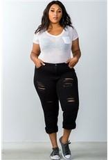 Black Distressed Jeans