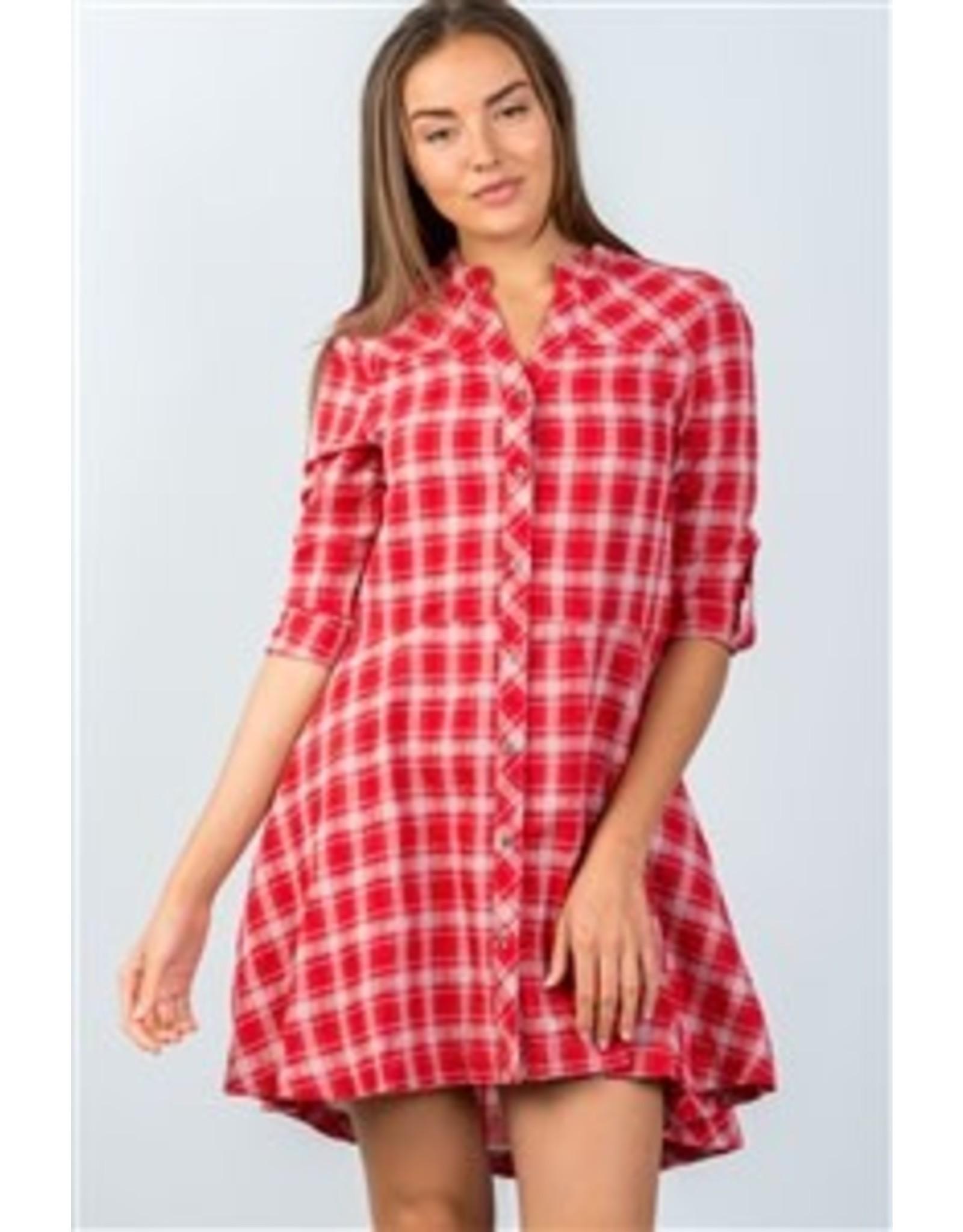 Hi-Low Checkered Mini Dress