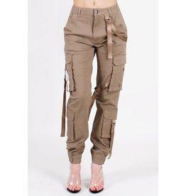 Cargo Strap Pants Khaki