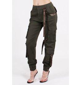 Cargo Strap Pants Olive