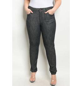Black Denim Stretch Jeans