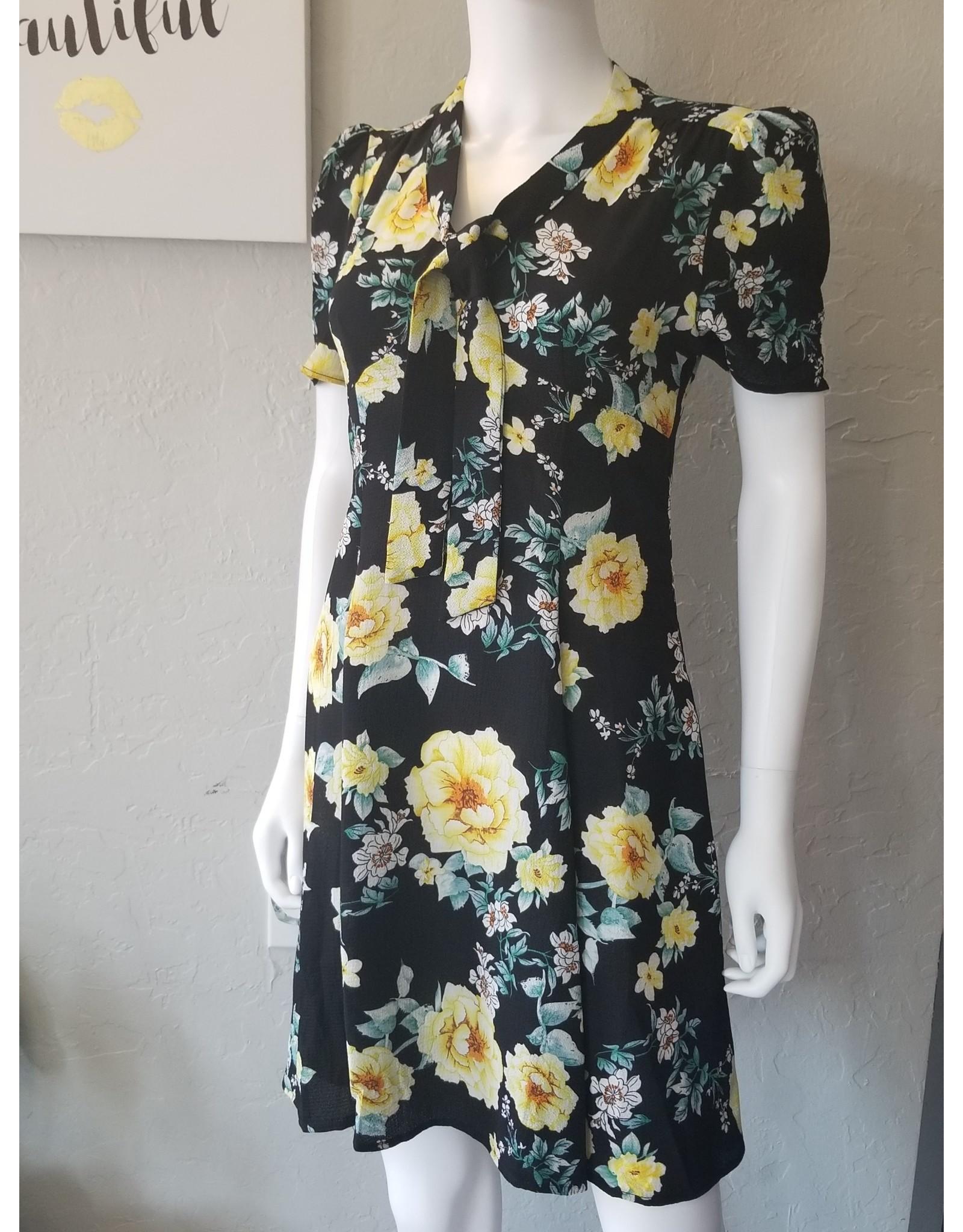 40s Floral Knot Dress