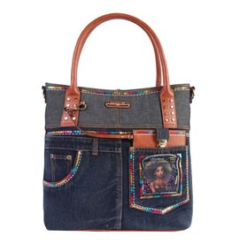 Nicole Lee SEQUIN DENIM TOTE BAG