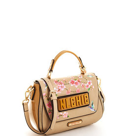 Nicole Lee CHERRY BLOSSOM EXPANDABLE CROSSBODY BAG