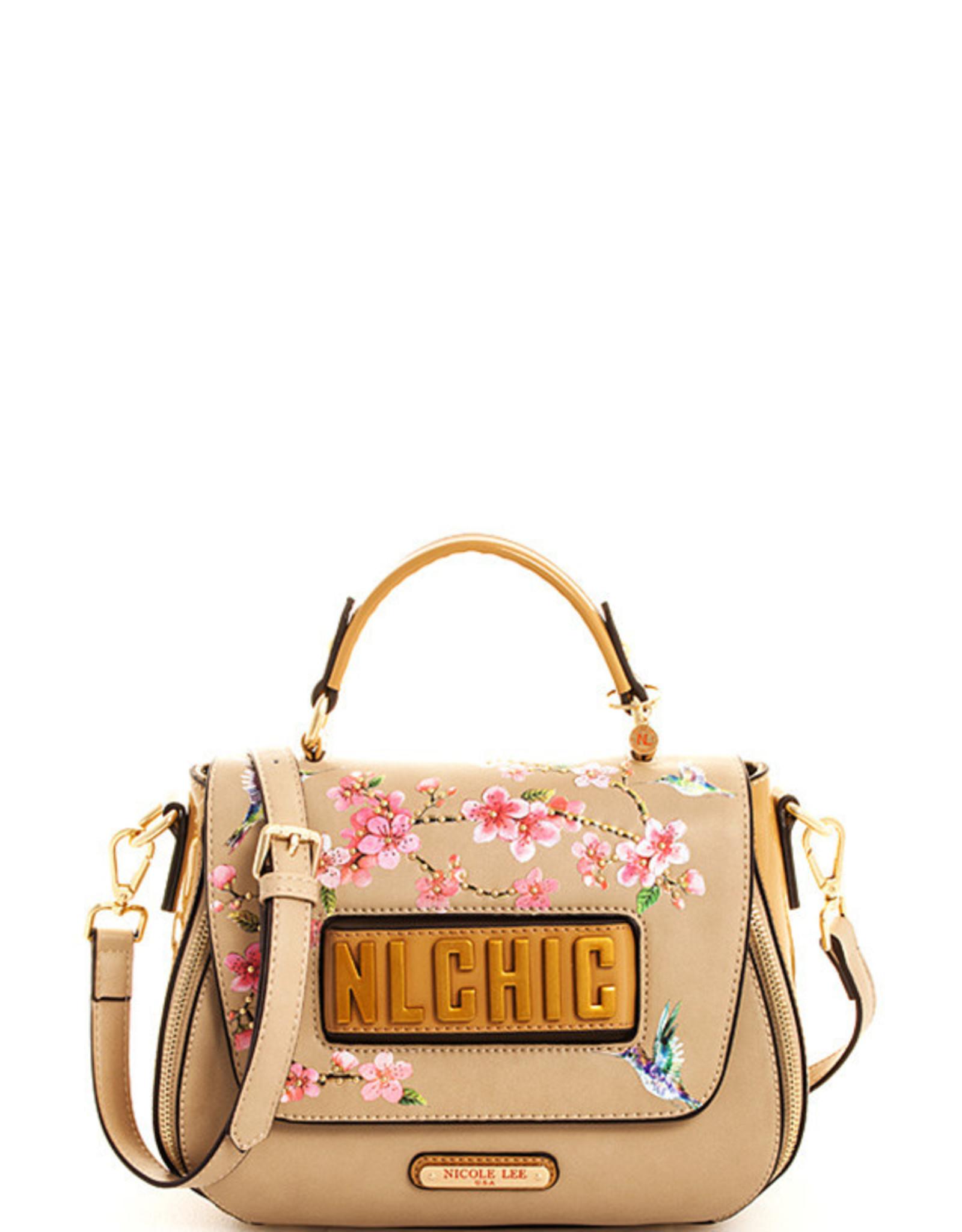 Nicole Lee CHERRY BLOSSOM EXPANDABLE CROSSBODY BAG