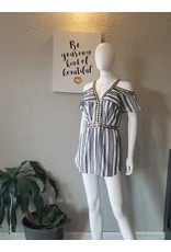 L'atiste by Amy Egyptian Black and White Romper