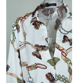 Pullover Chains Print Shirt