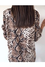 Animal Print Long Sleeve Casual Shirt